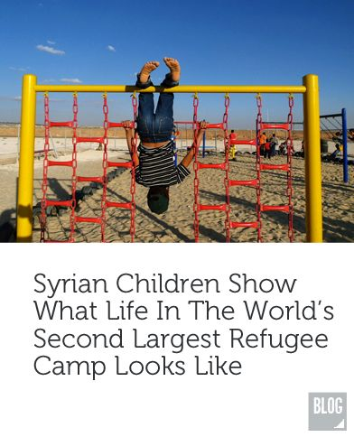 Syrian Children take Pictures in the Second Largest Refugee Camp