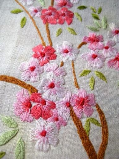 Blossom embroidery