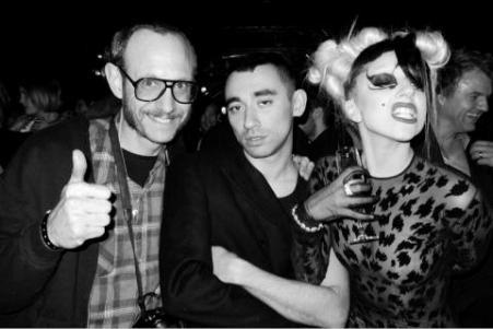 Lady Gaga models for Mugler