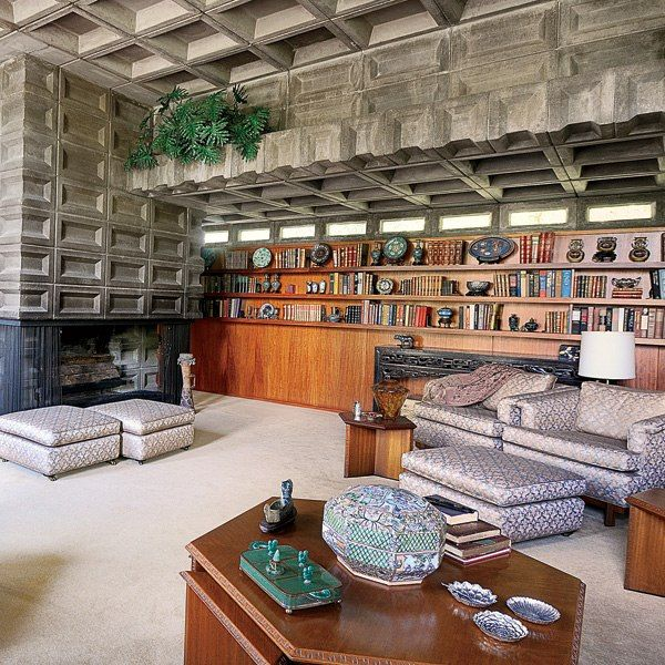 Architects Living Room Of A Frank Lloyd Wrights Gerald B Tonkens House In Cincinnati Ohio