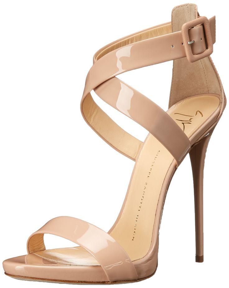Giuseppe Zanotti Women's Cross Strap Dress Sandal, Ver Blush, 7 M US