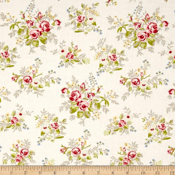 Moda Windermere Prints Garden Cuttings Linen White