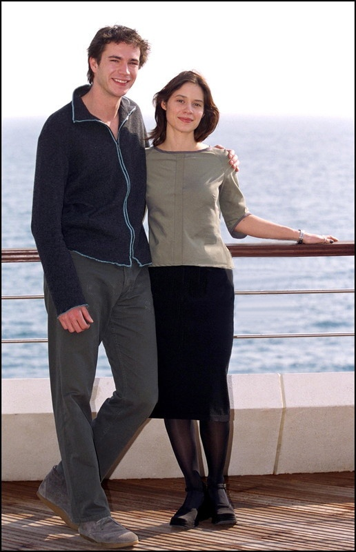 James D'Arcy and Paloma Baeza at the 2001 Monte Carlo International Television Festival for Rebel Heart which won the award for Best Director.