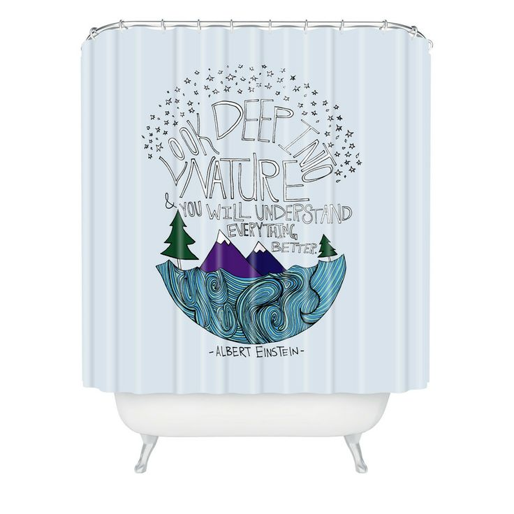 ... Einstein Nature 1 Shower Curtain | DENY Designs Home Accessories