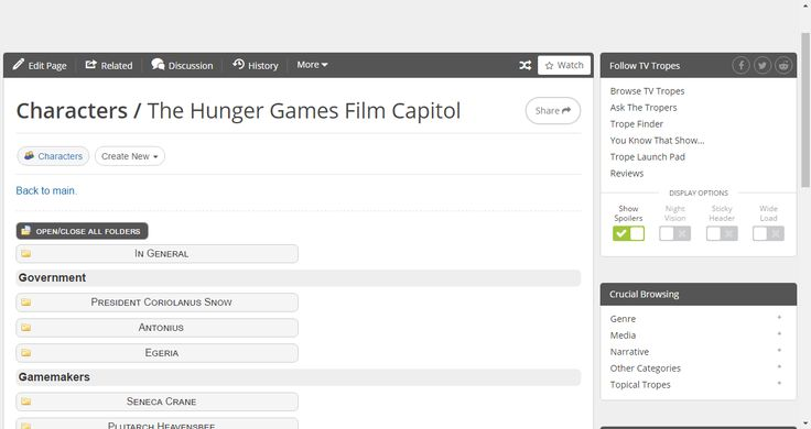 The Hunger Games Film Capitol / Characters - TV Tropes