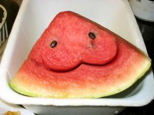 Smile Watermelon Carving Wallpaper