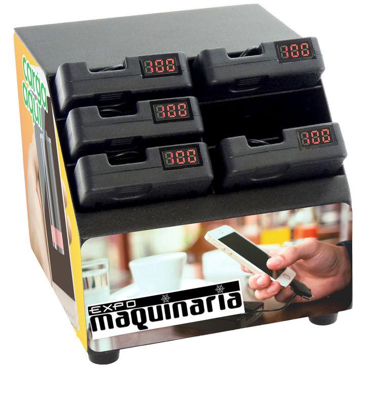 Estación carga con 6 cargadores para móviles - Medidas: 13 x 13 x 13 cm - Medidas del cargador: 11.5 x 60 x 1.8 cm - Potencia: 45W - Compuesto de 6 cavidades para 6 cargadores de energía - Cargadores independientes que pueden separarse de la base - Incluye: Estación de carga con 6 cavidades, 6 cargadores, 6 cables de carga, 1 adaptador de corriente, 1 cable de corriente y 1 manual de uso