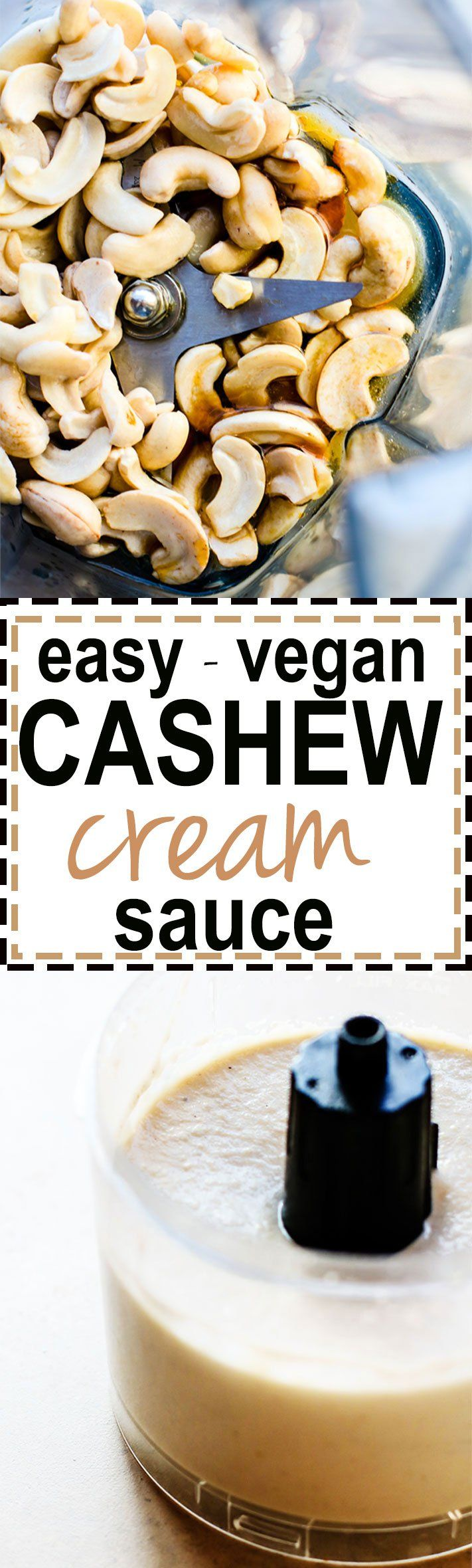 How To Make Vegan Cashew Cream Sauce. A super easy and healthy cashew cream sauce that you can make sweet or savory. Paleo Friendly.