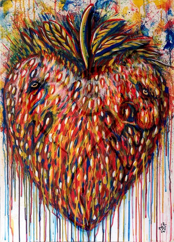 Wild Strawberry - 2017 - acrylic on canvas - 50x70cm