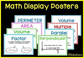 Mathematics Definition Posters FREEBIE! Also download the full version and receive all future updates for FREE!