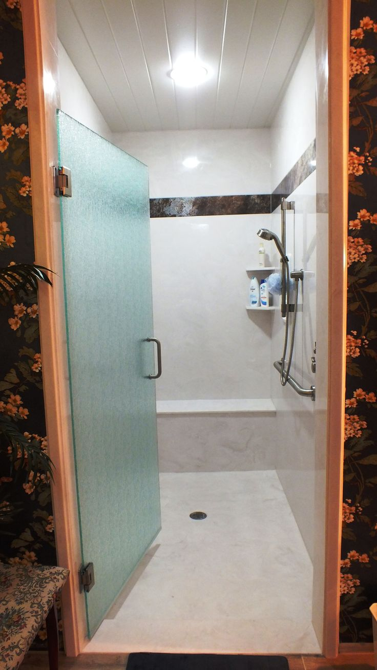 76 best our portfolio images on pinterest marbles almonds and 84 x 50 to be exact antique white shower walls with a designer band in italian ice bench seat shelves and a rain glass shower door eventelaan Choice Image
