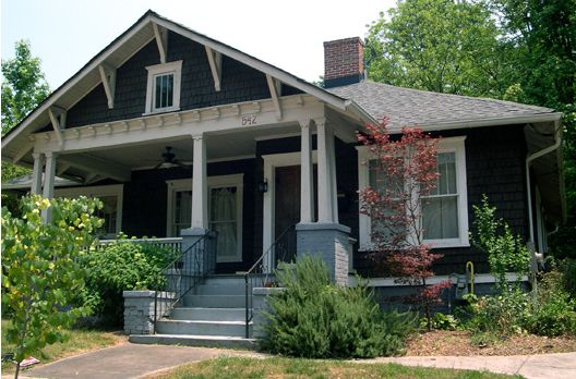 In a historic bungalow neighborhood of atlanta ga all for Atlanta craftsman homes