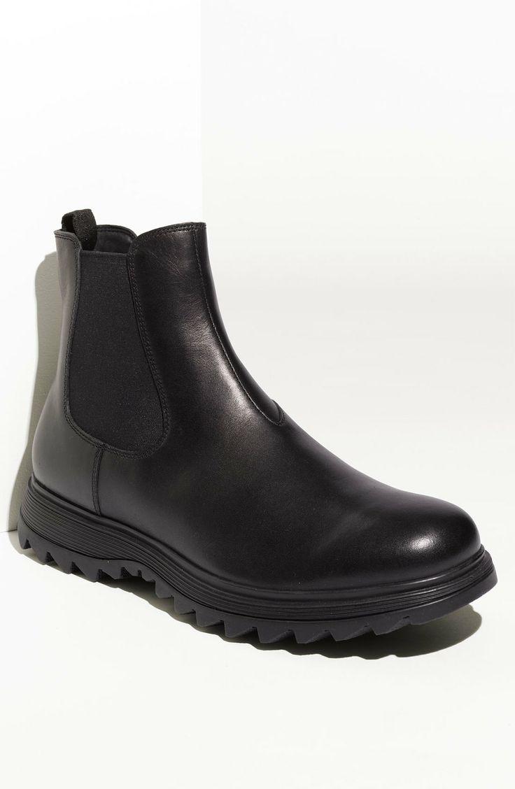 PRADA - Black Double Gore Boot  supa fine