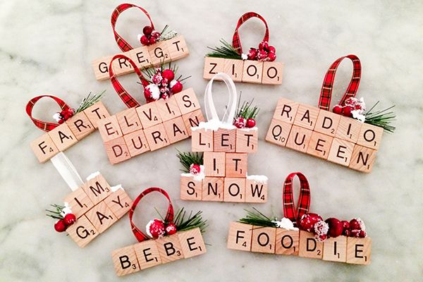 DIY Scrabble Ornament                                                                                                                                                                                 More