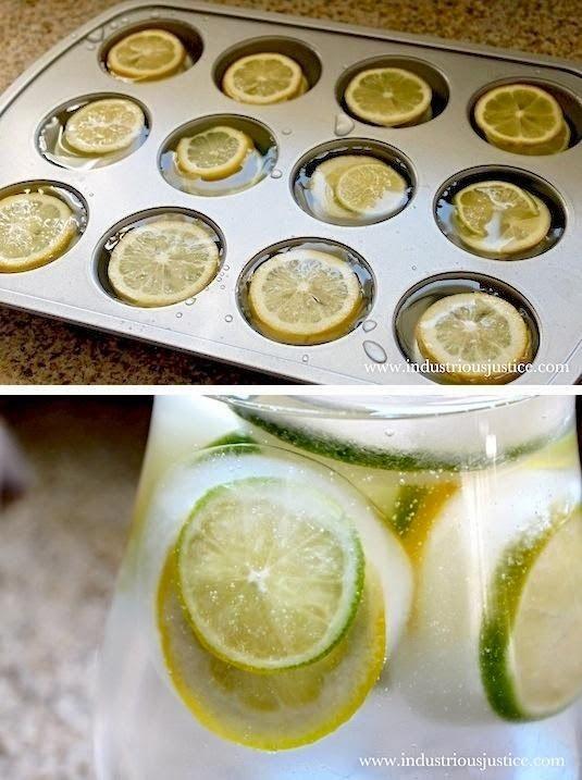 Keukeninspiratie - gezonde ijsblokjes met een smaakje. Ideaal voor in een kan met water.