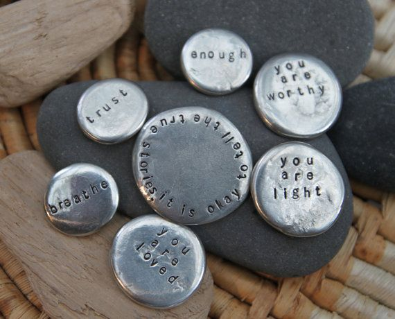 soul mantra pocket talismans set 3 by lizlamoreux on Etsy