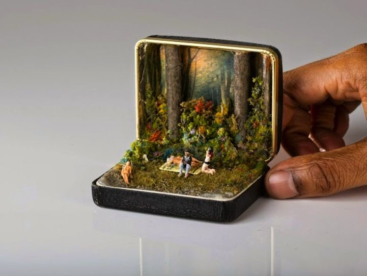 Talwst's spectacularly-detailed dioramas are hidden inside vintage ring boxes