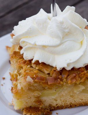 Schwedische Apfelkuchen - dieser #Kuchen ist im Handumdrehen fertig. Probier es aus.