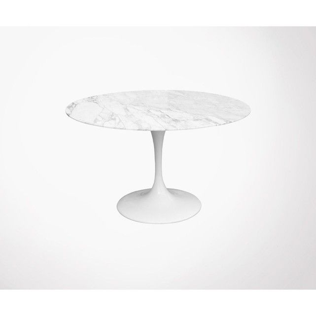 Table A Manger Ronde Marbre 90cm Noress Blanc Meubles Design La Redoute Table A Manger Ronde Table A Manger Marbre Table A Manger