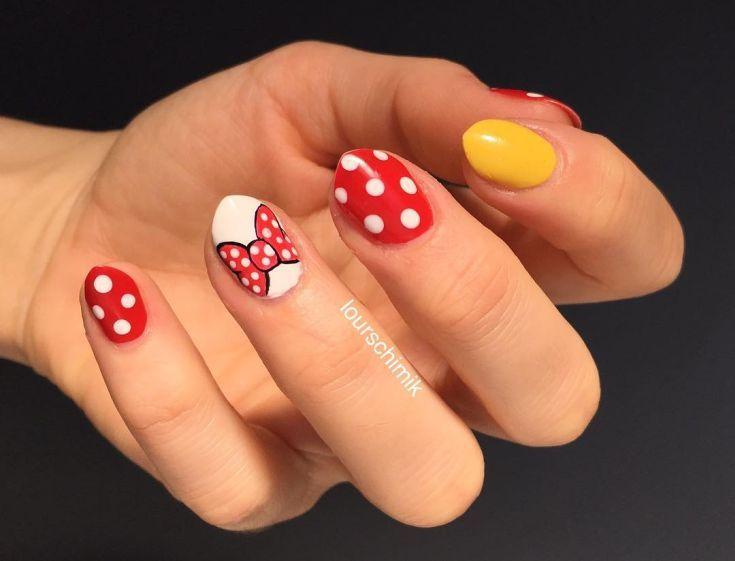 Mejores 54 imágenes de Mickey and Minnie mouse nail art en Pinterest ...