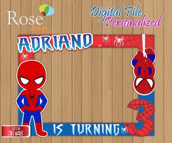 Spiderman Photo Booth / Spiderman Birthday / Backdrops / Birthday Photo Booths / Spiderman party / S Birthday Photo Booths, Birthday Backdrop, Avengers Birthday, 7th Birthday, Birthday Calender, Party Frame, Christmas Crafts For Adults, Child Day, Party Stores