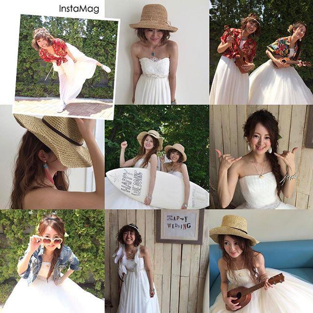 暖かい季節です🌴  ・  ・  ウェディングドレスに色んな小物を合わせて夏をテーマに撮影しました🌴  ・  ・  #夏#ビーチ#海 #ウクレレ#むぎわら帽子 #アロハシャツ#サーフボード #アロハ#全国のプレ花嫁さんと繋がりたい #日本中のプレ花嫁さんと繋がりたい #プレ花嫁 #プレ花嫁さんと繋がりたい #wedding #weddingdress #ウェディングドレス #ウェディング #ヘアアレンジ #波ウェーブ #ショートヘア #ロング #ロングヘア #宇都宮 #栃木 #貸衣装 #レンタルドレス #ネックレス #小物 #小物合わせ