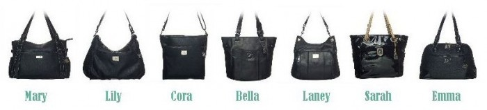 the different Grace Adele purses! you just pick your color : )