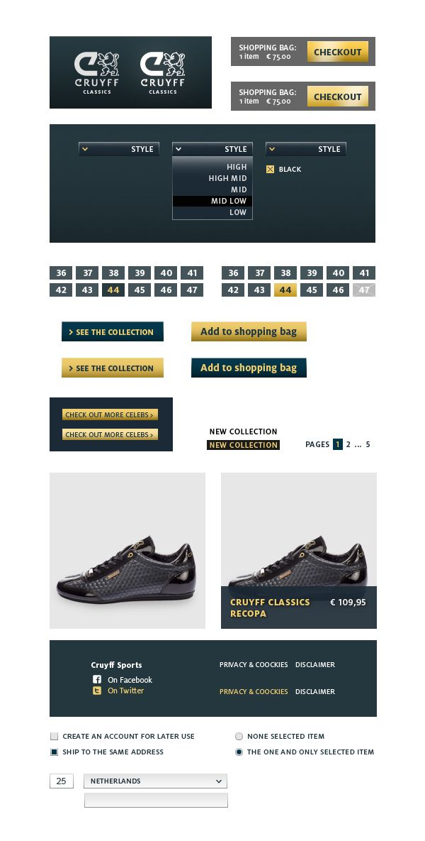The online Cruyff store by SuperBruut , via Behance
