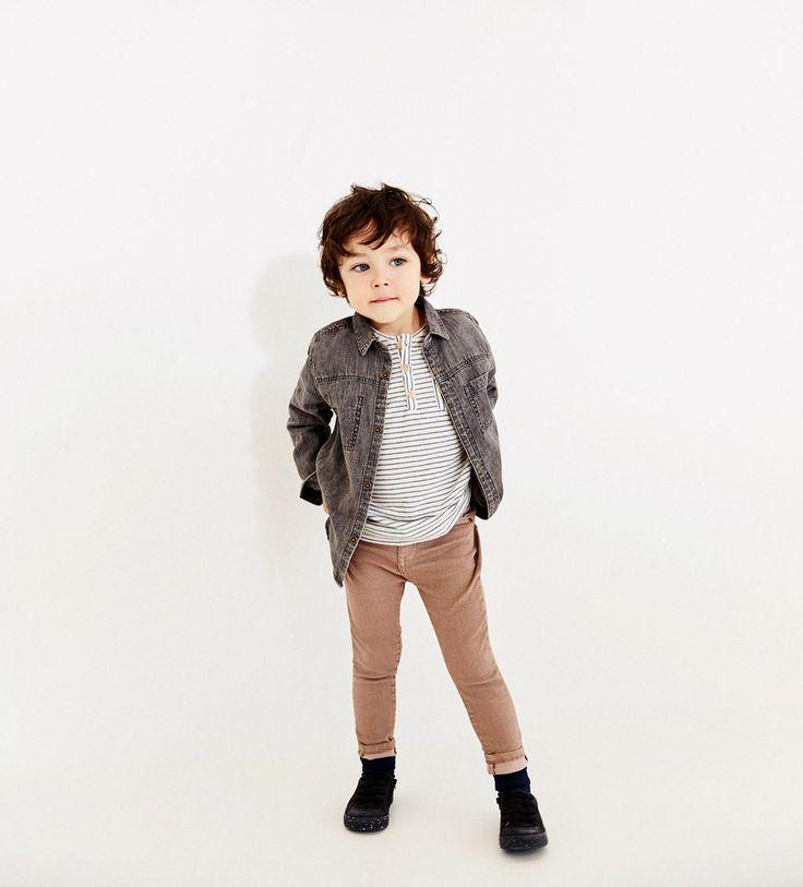 Bilde 1 fra FARGET DENIMBUKSE SKINNY fra Zara