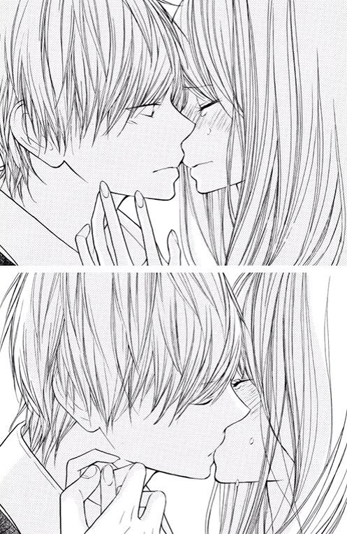 Anime Characters Kissing Drawing : Best ideas about cute anime character on pinterest
