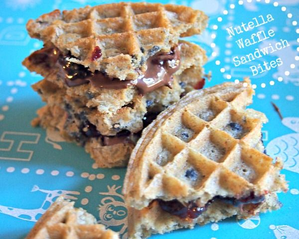 Nutella Waffle Sandwich Bites: Back To School Lunch Remix!