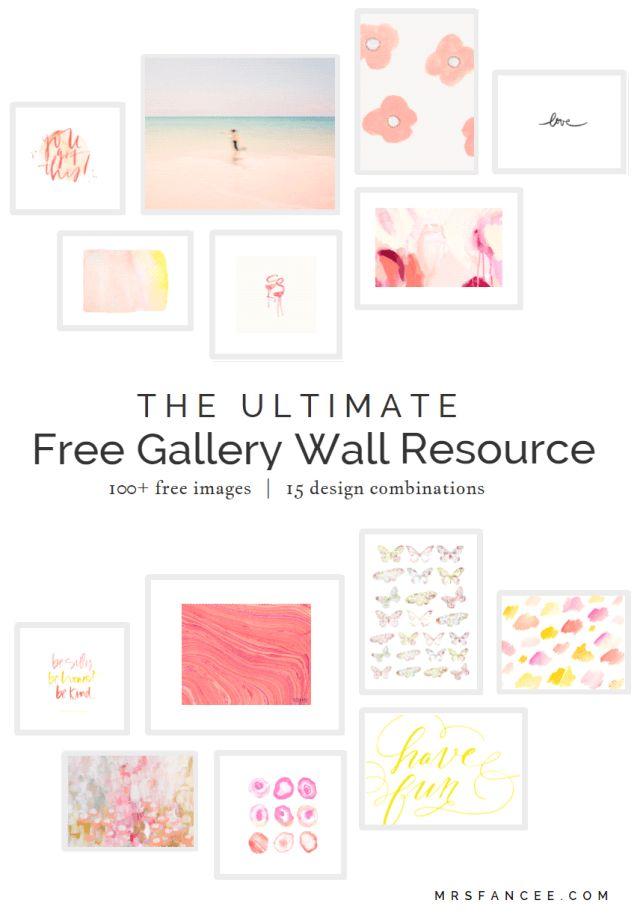 (Em inglês) 100+ gravuras gratuitas e prontas para impressão com guia de organização na parede.