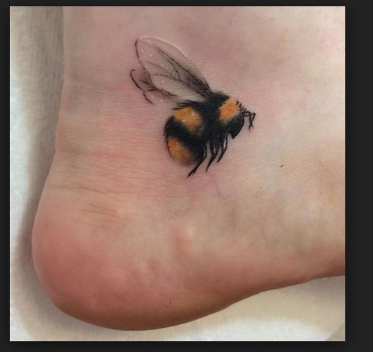 bee tattoo ankle cute small spring insect honey