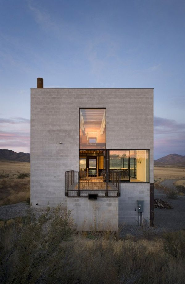 Modern Concrete House With Glass Walls: 148 Best Block Walled House Images On Pinterest