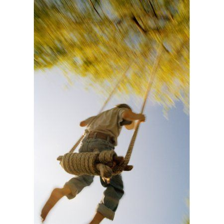 Fv3593 Natural Moments Photography Boy On Swing Canvas Art - Anita Dammer Design Pics (22 x 34)
