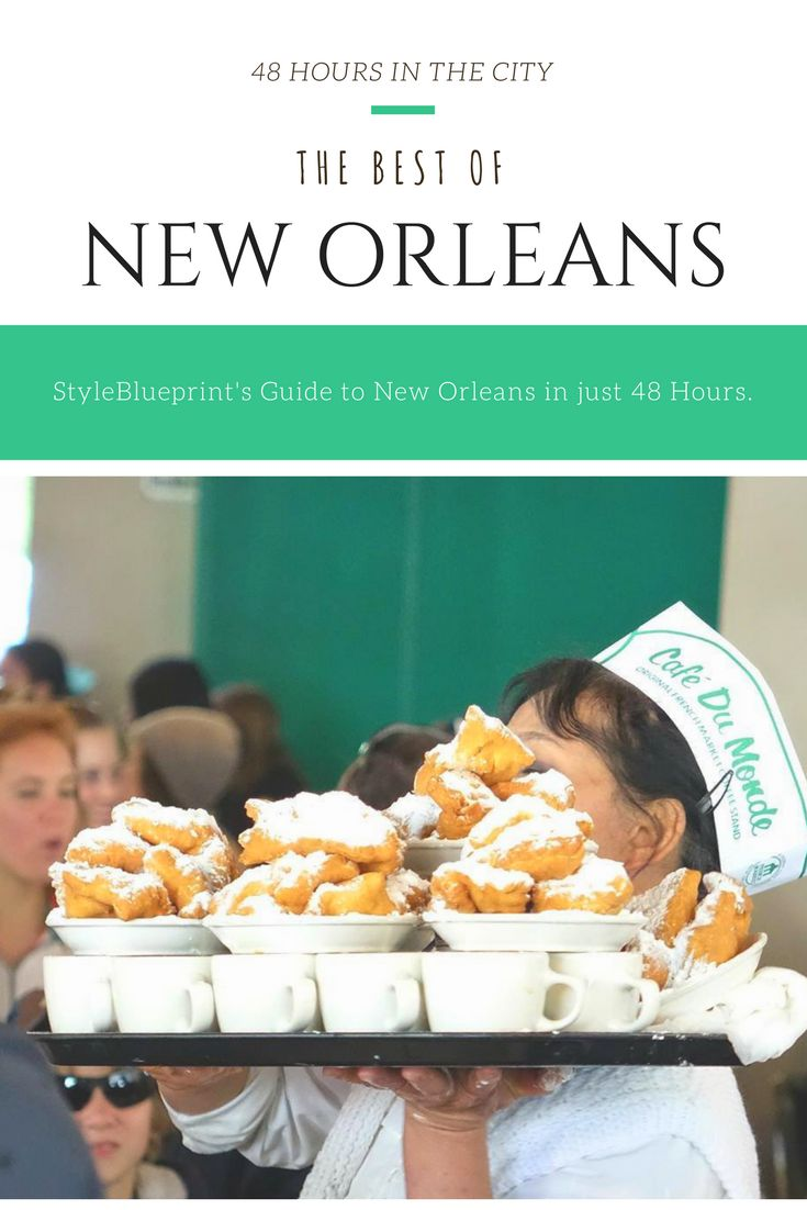Make the most of your next trip to New Orleans with our city guide! #restaurants #food #sights #shopping #NewOrleans #Louisiana #cafedumonde #beignets #coffee #48hours #guide #travel #vacation #destination #frenchquarter #hotel #styleblueprint Image: Café Du Monde