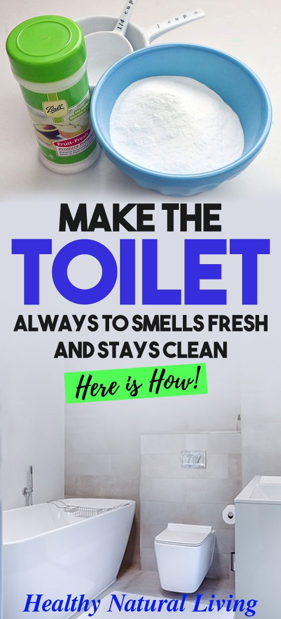 MAKE THE TOILET ALWAYS TO SMELLS FRESH AND STAYS CLEAN- HERE IS HOW!