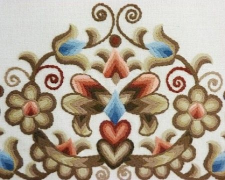 The typical embroidery of Hódmezővásárhely, the home town of the founder of Budapest 101