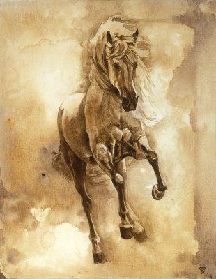 Baroque Horse Series III: III Painting at ArtistRising.com