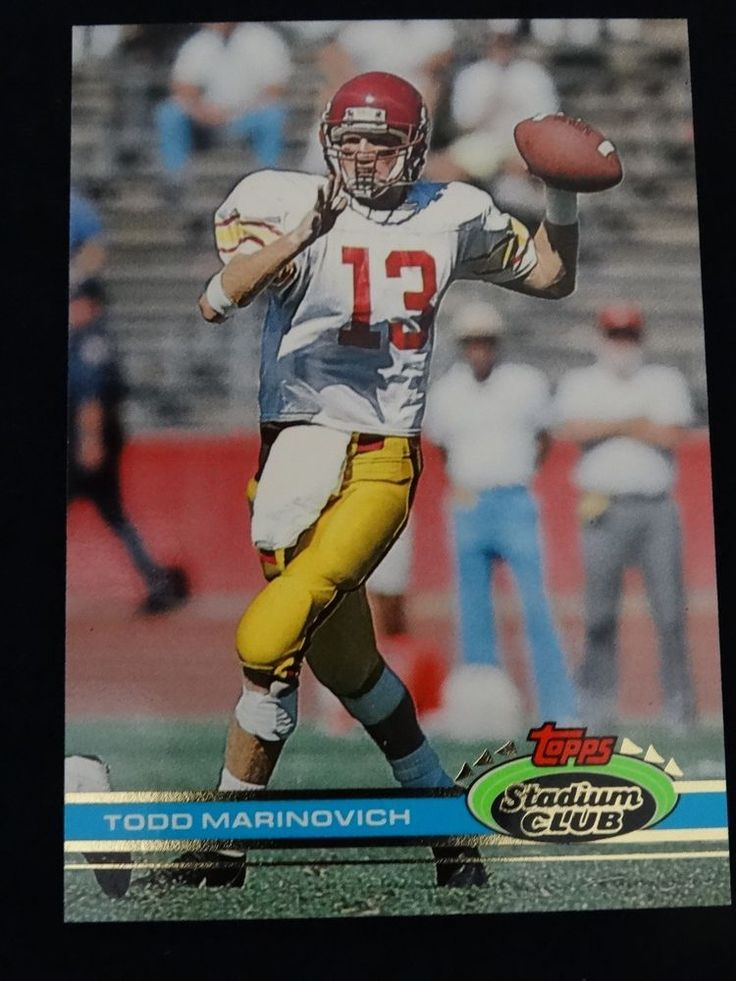 1991 Topps Stadium Club #48 Todd Marinovich Los Angeles Raiders RC Card #LosAngelesRaiders