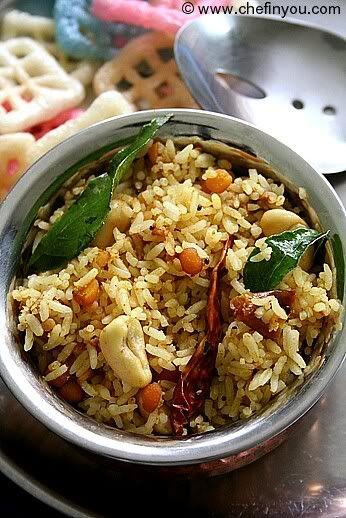 South Indian Tamarind Rice (Pulihora/Iyengar Puliyodharai) Recipe  Chef In You