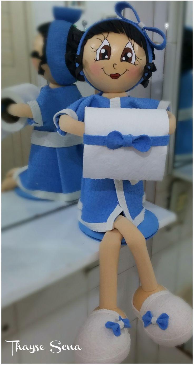 Boneca fofucha porta papel higiênico Fofucha para bañero