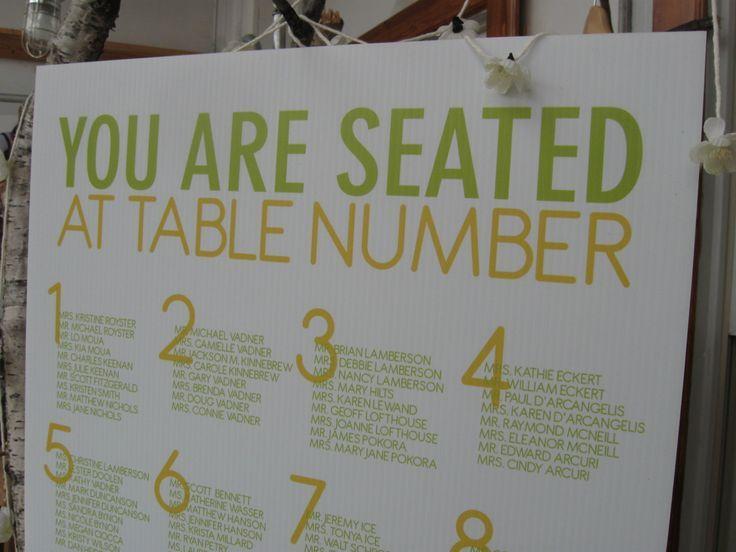 diy wedding seating chart - Google Search