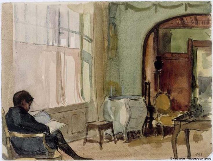Erik Edelfelt at Home in Kilo by Albert Edelfelt (Sweden)