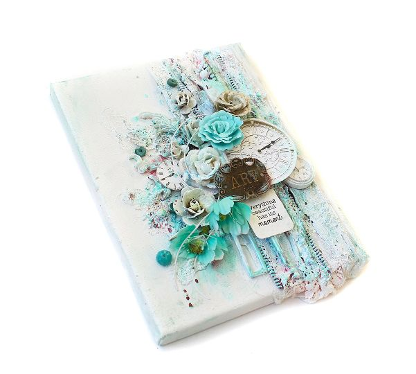 beautiful canvas by Kirsten Hyde. We love it! #ppp #prima #canvas #mixedmedia