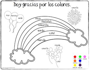 spanish thanksgiving vocabulary coloring pages - Color Activities For Kids