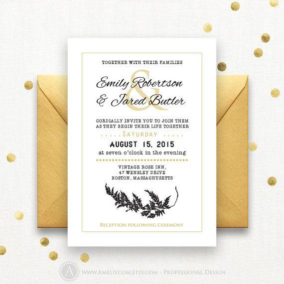 24 best Wedding Invitations Printable images on Pinterest - professional invitation template