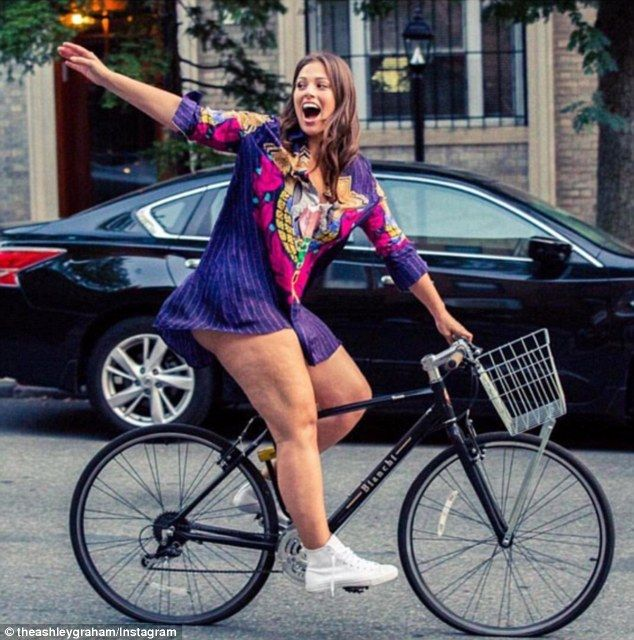 Body positive: Plus-sized model, Ashley Graham, uploaded this candid snap to her Instagram account on Thursday in which she shows off visible cellulite and encourages women to love their bodies no matter the size
