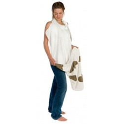 Supersoft Bamboo CuddleDry Towel.  Apron style Perfect for sensitive skin, Keeps Mum or Dad & Bub dry