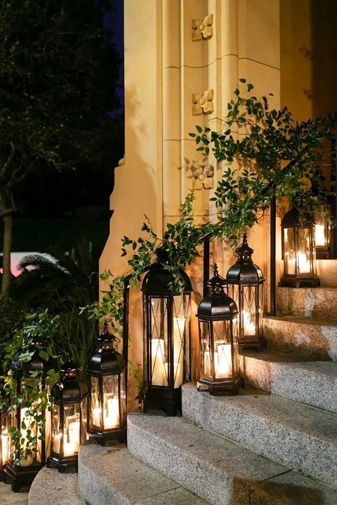 42 Romantic Rustic Wedding Lanterns Wedding Forward In 2020 Winter Wedding Centerpieces Lantern Decor Wedding Winter Wedding Decorations